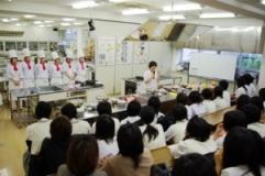 調理科学専攻体験授業の写真