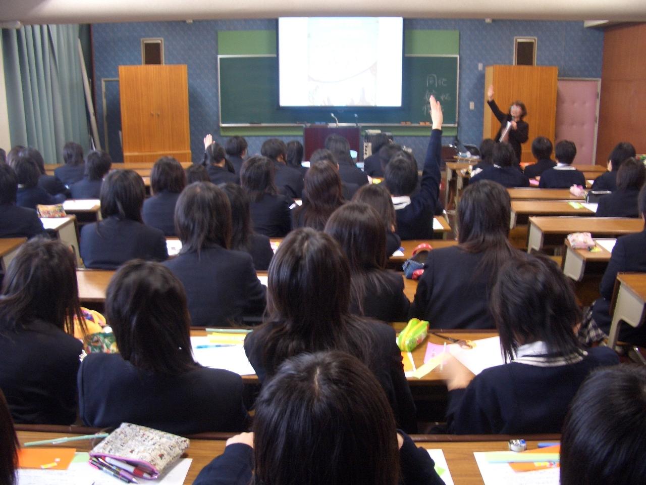 高短連携「出前授業」での写真