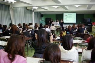 幼児教育学科学生による「卒業研究発表」の写真(その2)