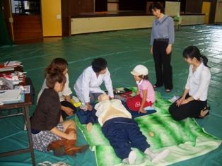 AED体験の写真