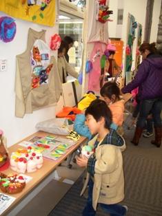 幼児教育発表会での展示の写真