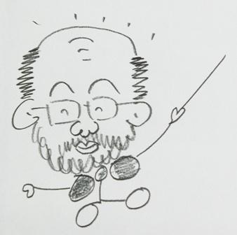 大久保先生自画像