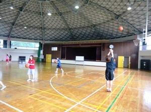 バスケットボール練習風景