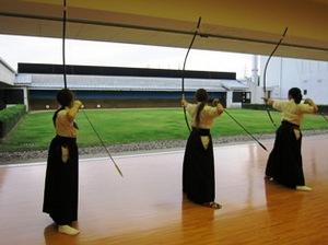 弓道の練習風景
