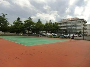 ソフトテニス練習風景