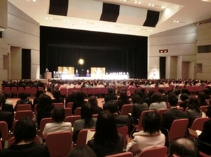第46回仁愛女子短期大学卒業式の様子