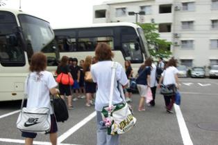 帰りのバスの写真