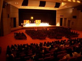 仁愛女子短期大学 平成22年度入学式の様子