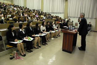 課外活動等奨学金授与式の様子