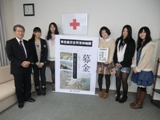 仁愛女子短期大学学生会は、日本赤十字社福井県支部を訪れ、義援金をお渡しさせていただきました。