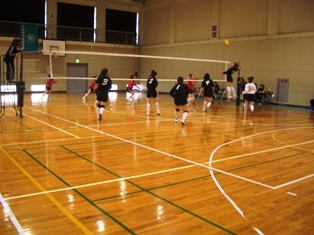 金沢でのバレーボールの試合の様子