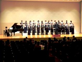 仁愛女子短期大学音楽学科サマー・コンサート(合唱)の様子